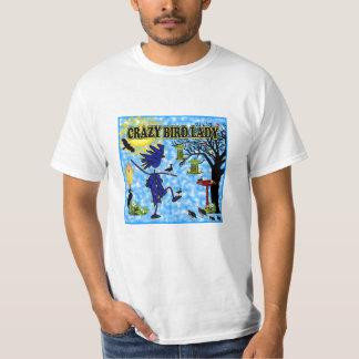 Crazy Bird Lady Design Tee Shirt