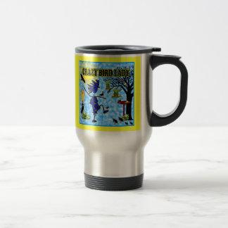 Crazy Bird Lady Design Travel Mug