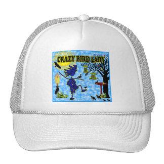 Crazy Bird Lady Design Trucker Hat