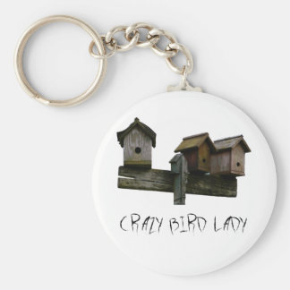 Crazy Bird Lady Keychain