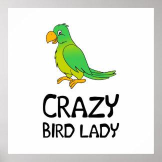 Crazy Bird Lady Poster