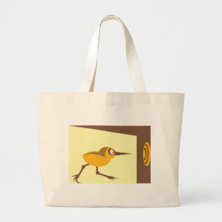 Crazy Bird Large Tote Bag