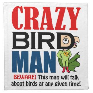 Crazy bird man napkin