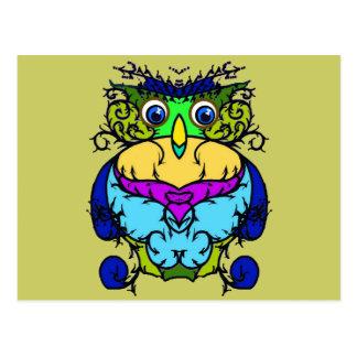 Crazy Bird Owl Postcard