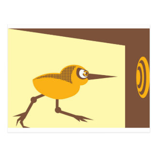 Crazy Bird Postcard