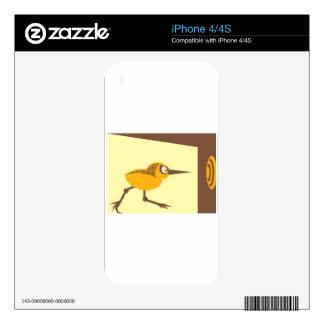 Crazy Bird Skins For iPhone 4S