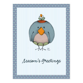 Crazy Birds Postcard