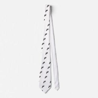 Crazy Black and White Tuxedo Kitty Tie