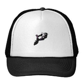 Crazy Black and White Tuxedo Kitty Trucker Hat