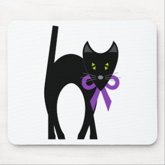 Crazy Black Cat Mouse Pad