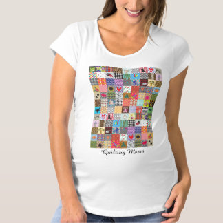 Crazy Block Quilt Quilting Mama Funny Maternity Maternity T-Shirt