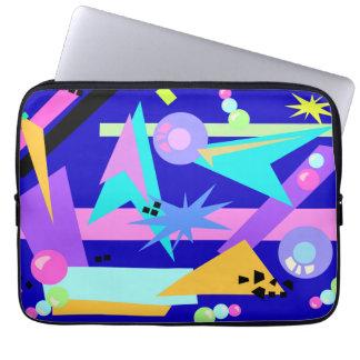Crazy Blue Eighties Pattern Laptop Sleeves