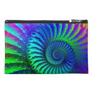 Crazy Blue Fractal Art Pattern Travel Accessory Bags