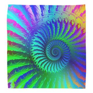 Crazy Blue Fractal Art Pattern Bandana