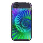 Crazy Blue Fractal Art Pattern iPhone 4/4S Cases