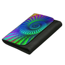 Crazy Blue Fractal Art Pattern Wallet