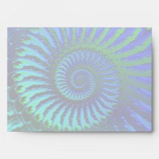 Crazy Blue Fractal Pattern Envelope