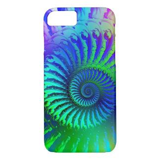 Crazy Blue Fractal Pattern iPhone 7 Case