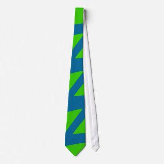 Crazy Blue green pattern Tie