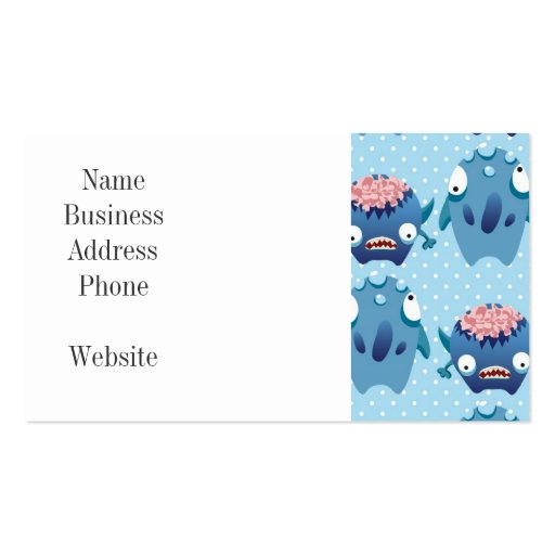 Crazy Blue Monsters Fun Creatures Gifts for Kids Business