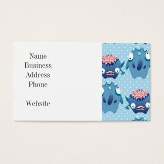 Crazy Blue Monsters Fun Creatures Gifts for Kids Business Card