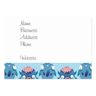 Crazy Blue Monsters Fun Creatures Gifts for Kids Business Cards