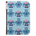 Crazy Blue Monsters Fun Creatures Gifts for Kids Kindle Folio Case