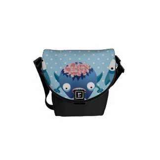 Crazy Blue Monsters Fun Creatures Gifts for Kids Courier Bags