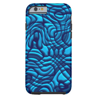 Crazy Blue Swirl Design Tough iPhone 6 Case