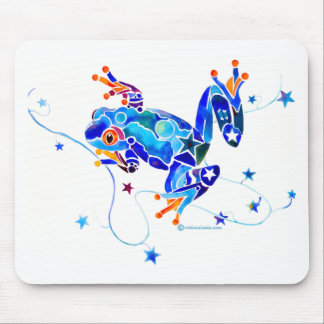 CRAZY BLUE TREE FROGS MOUSE PAD