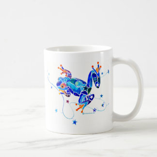 CRAZY BLUE TREE FROGS COFFEE MUGS