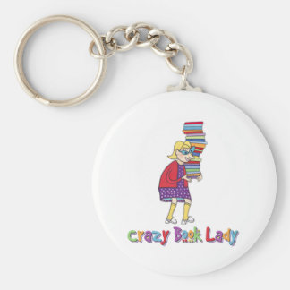 Crazy Book Lady Keychains