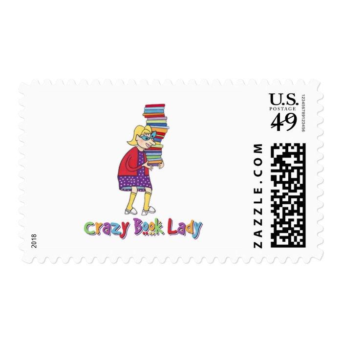 Crazy Book Lady Postage
