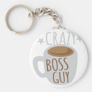 crazy boss guy keychain