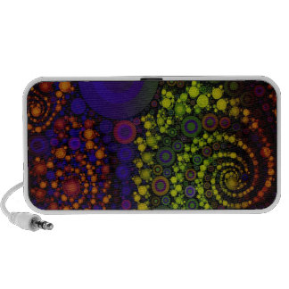 Crazy Bright Abstract Art Mp3 Speakers