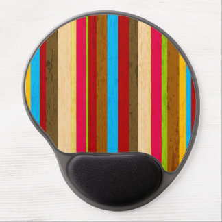 Crazy Bright Stripes Gel Mouse Pad