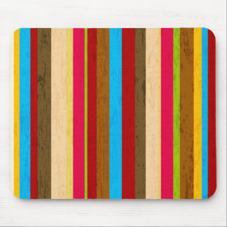 Crazy Bright Stripes Mouse Pad