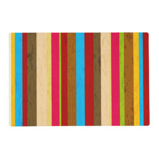 Crazy Bright Stripes Placemat