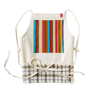Crazy Bright Stripes Zazzle HEART Apron