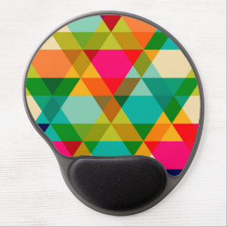 Crazy Bright Triangle Design Gel Mouse Pad