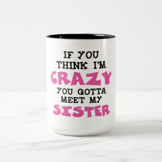 Crazy Brother Two-Tone Coffee Mug