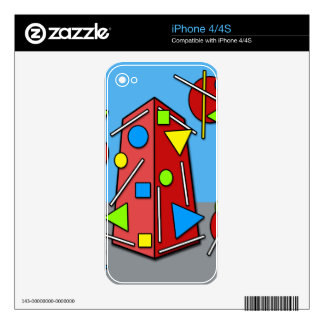 Crazy building decal for the iPhone 4