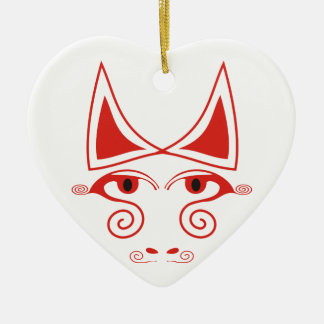 Crazy Bull Ceramic Ornament