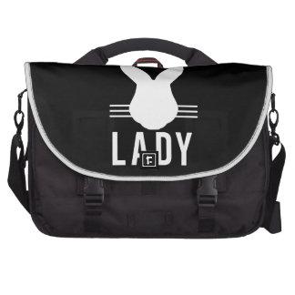 CRAZY BUN LADY LAPTOP COMMUTER BAG