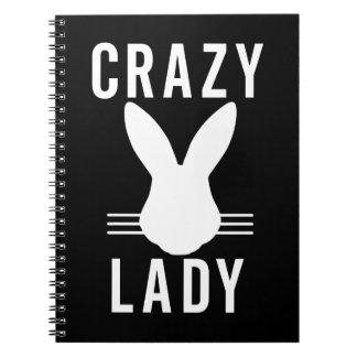 CRAZY BUN LADY SPIRAL NOTEBOOK