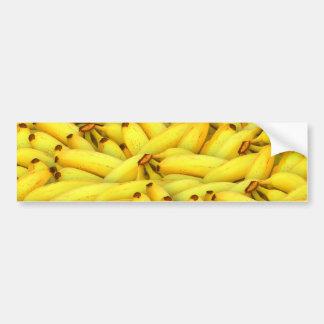 Crazy Bunches of Yellow Bananas Bumper Sticker