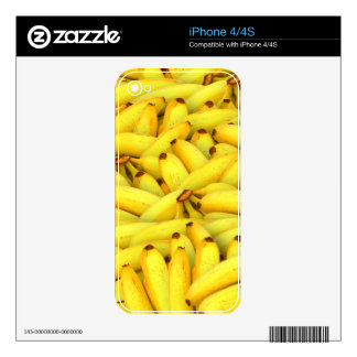 Crazy Bunches of Yellow Bananas Decal For iPhone 4