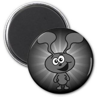Crazy Bunny 2 Inch Round Magnet