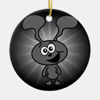 Crazy Bunny Ceramic Ornament