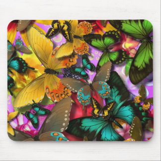 Crazy Butterflies Mouse Pad
